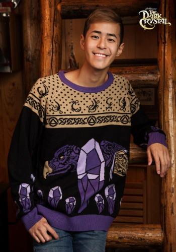 El suéter de vacaciones de cristal oscuro