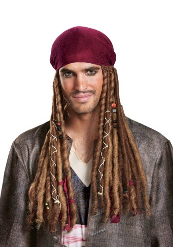 Bandana con rastas de Jack Sparrow para adulto