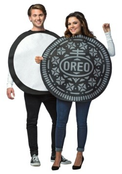 Traje de parejas adultas de galletas Oreo