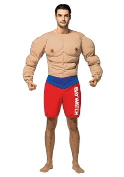 Disfraz de músculos de vigilante de playa para hombres
