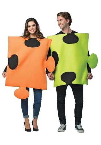 Disfraz de piezas de rompecabezas para parejas
