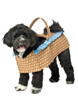 Disfraz de perro en la cesta
