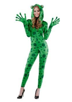 Disfraz de rana juguetona para mujer