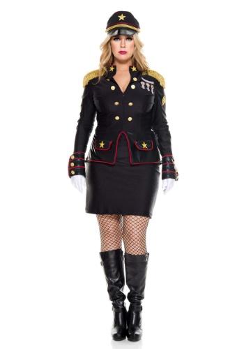 Disfraz militar de talla grande para mujer