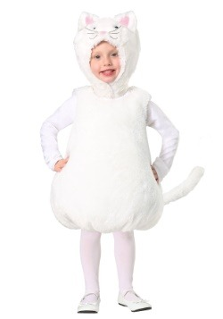 Toddler Bubble Body Disfraz de Kitty blanco