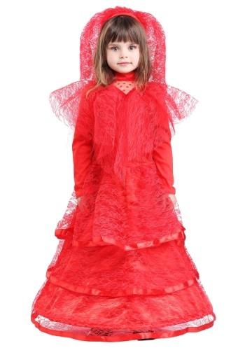 Vestido de novia rojo gótico de niño