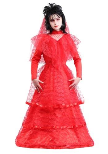 Vestido de novia rojo gótico infantil