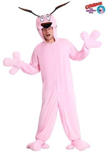 Disfraz de pijama de Coraje el perro cobarde para adulto