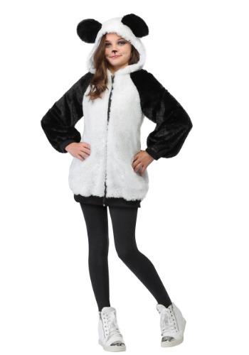 Disfraz de Panda con capucha para niña