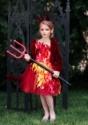Disfraz chaqueta roja de diablo para niñas