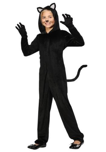 Disfraz negro de gato para niñas