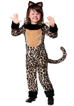 Disfraz de leopardo de lujo para niña