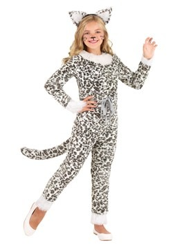 Disfraz de leopardo de las nieves para niñas