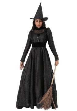 Disfraz de bruja oscura de lujo para mujer