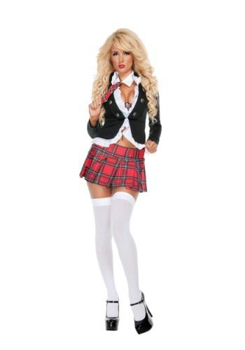Disfraz de niña de la escuela Uptown para mujer
