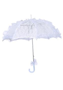 Parasol de encaje blanco