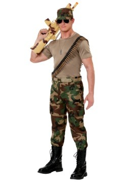 Disfraz de soldado con camuflaje para hombre