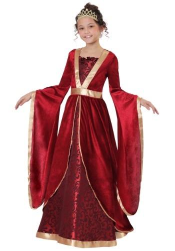 Disfraz de doncella renacentista de niña