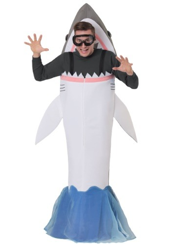 Disfraz de ataque de tiburón adulto