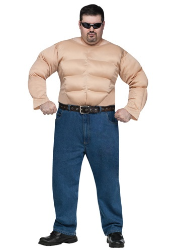 Camisa de pecho musculoso talla extra
