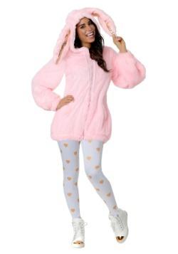 Disfraz de conejito rosa borroso talla grande para mujer