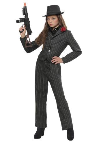 Disfraz de gangster para niñas