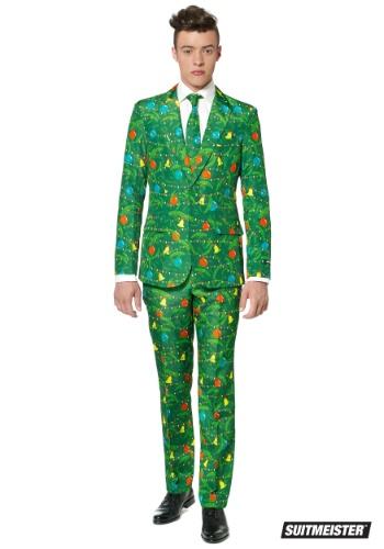 Traje de Suitmiester para hombre de Navidad verde