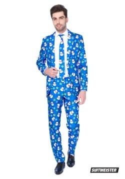 Traje azul Suitmiester para hombre de muñeco de nieve