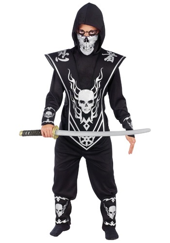 Disfraz de calavera ninja para niños