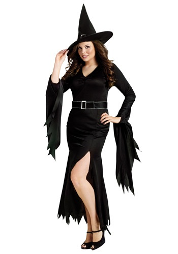 Disfraz de bruja gótica talla extra