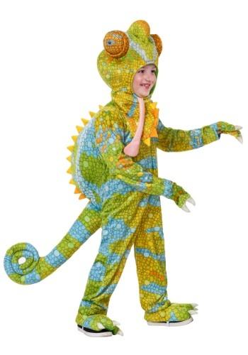 Disfraz de camaleón realista para niños pequeños