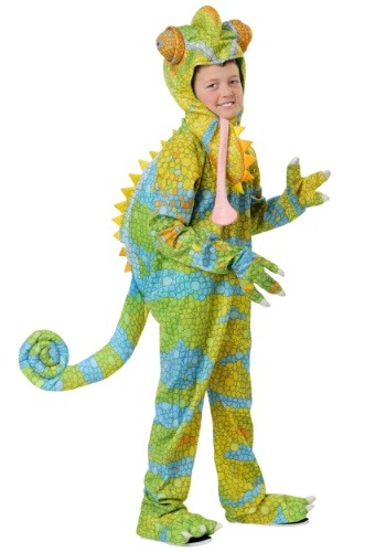 Disfraz de camaleón realista para niños