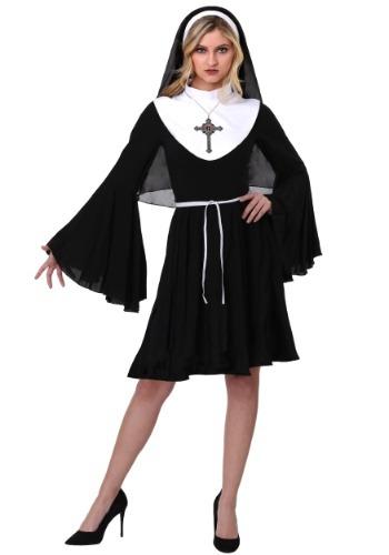 Disfraz de monja descarada para mujer