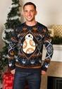 Suéter navideño de Star Wars de BB8 azul marino feo