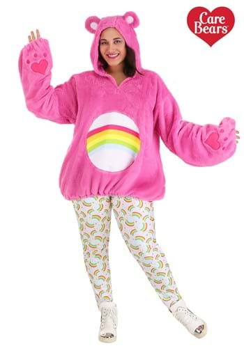 Care Bears Deluxe Cheer Bear traje con capucha y talla grand