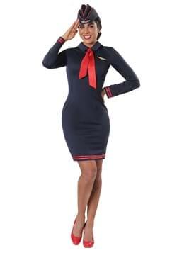 Disfraz de asistente de vuelo de Workin 'the Skies para muje