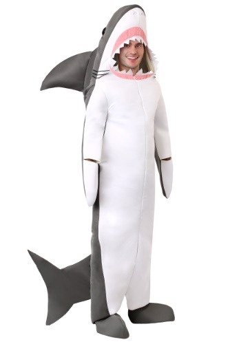 Disfraz de gran tiburón blanco adulto