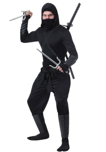 Adulto Stealth Shinobi Ninja Plus Size Costume