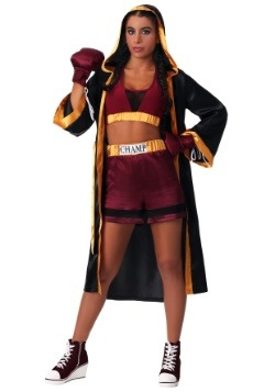 Disfraz de boxeador duro de mujer