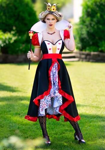 Disfraz de reina de corazones coqueta para mujer