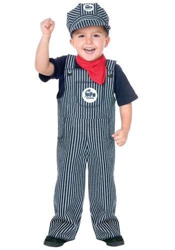Disfraz de maquinista de trenes para niños pequeños