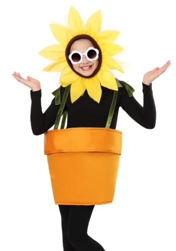 Disfraz de maceta de flores para niños