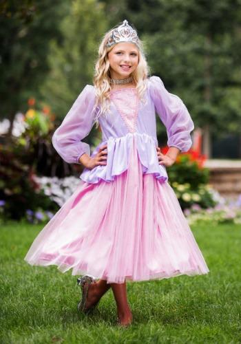 Disfraz de princesa rosa y lavanda para niñas