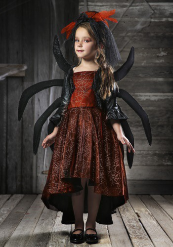 Vestido de viuda espeluznante para niñas
