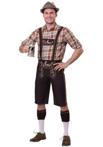 Disfraz de camarero Oktoberfest talla grande para hombre