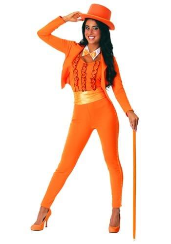 Esmoquin naranja para mujer