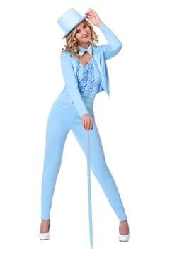 Esmoquin azul femenino para adulto