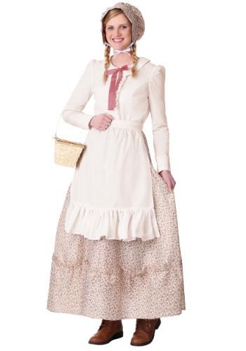 Disfraz de pionera de la pradera para mujer talla extra