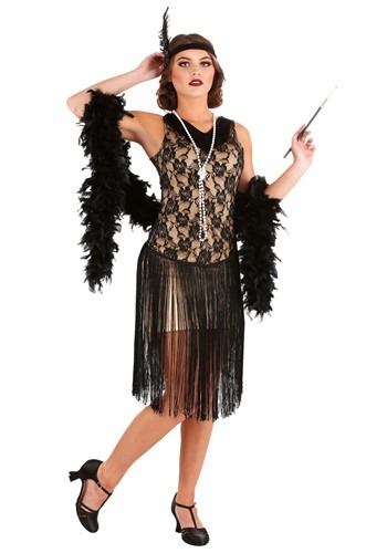 Disfraz de Speakeasy Flapper Plus Size para mujer