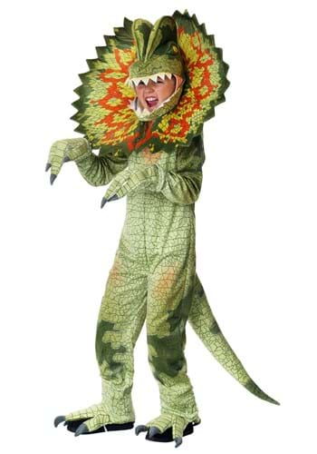 Disfraz de Dilophosaurus del niño
